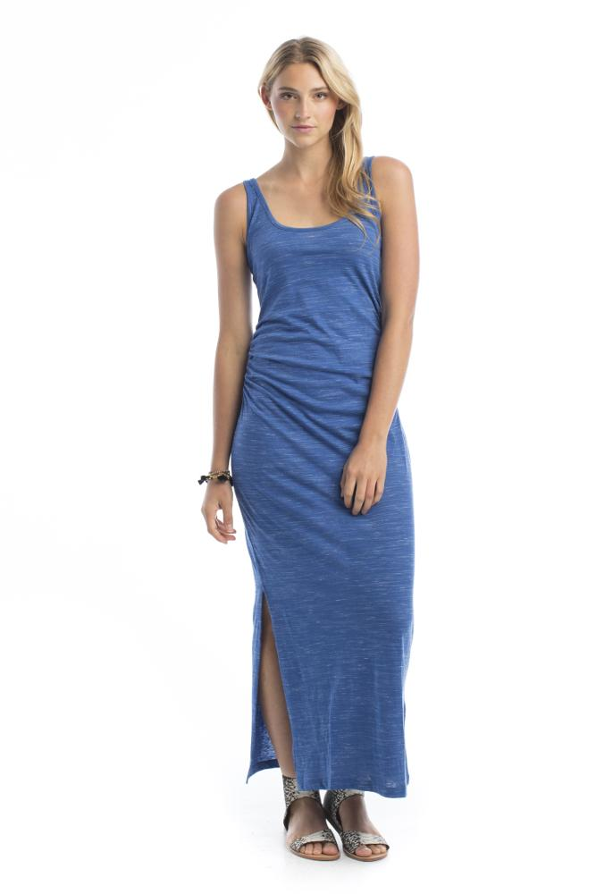blue tank maxi dress made by Synergy Organic clothing
