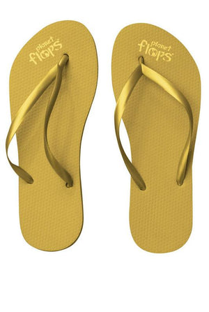 Women's Thin Strap Flops - Green Orchyd