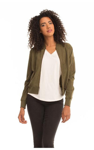 Bomber Jacket - Green Orchyd