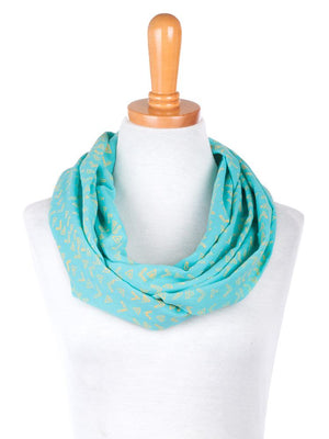 Blockprint Infinity Scarf - Green Orchyd