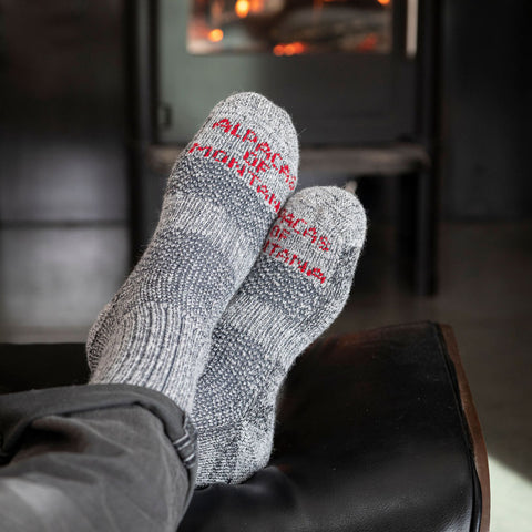 Ski Socks - Alpaca Over the Calf Warm Socks | Ski Helmet Liner