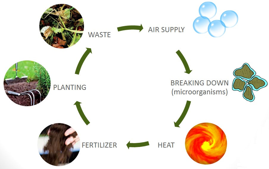 compost lifecycle information diagram