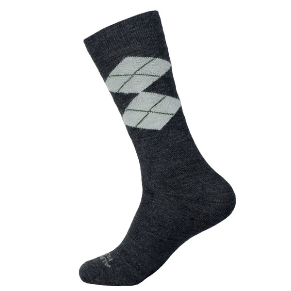 mid calf Mens Argyle alpaca Dress Socks