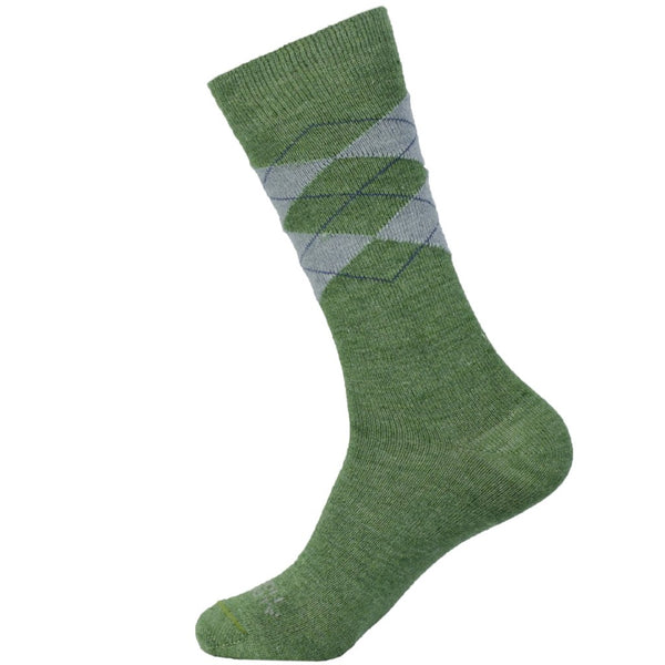 women's olive green Argyle Dress Socks