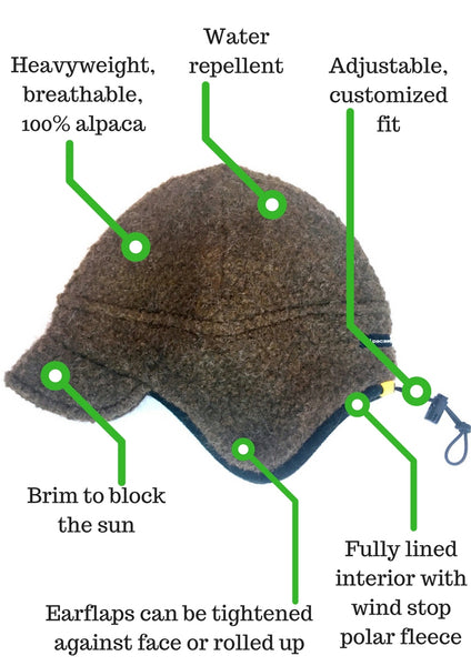 Extreme Warmth WindStopper Hunting Hat - Alpacas of Montana