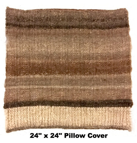 Hand Woven All Natural Alpaca Pillow Covers & Placemat