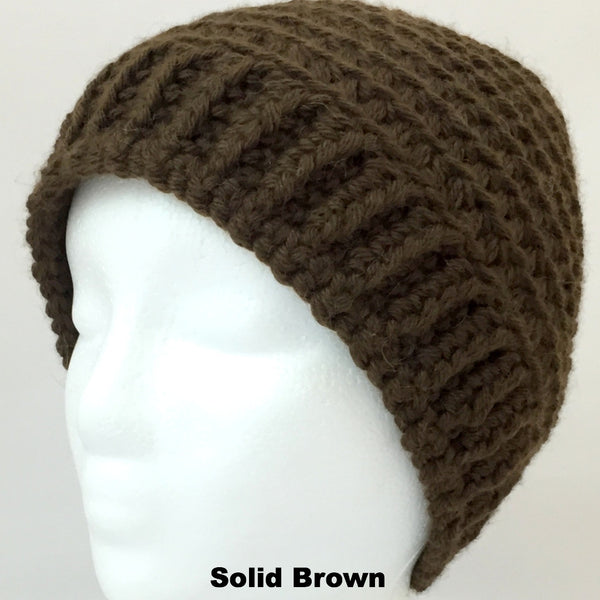 brown winter wool hat for women