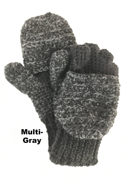gray mittens and gloves