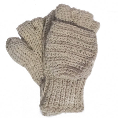 Heavyweight Convertible Alpaca Gloves / Mittens