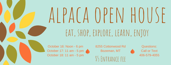 alpaca open house ticket for event
