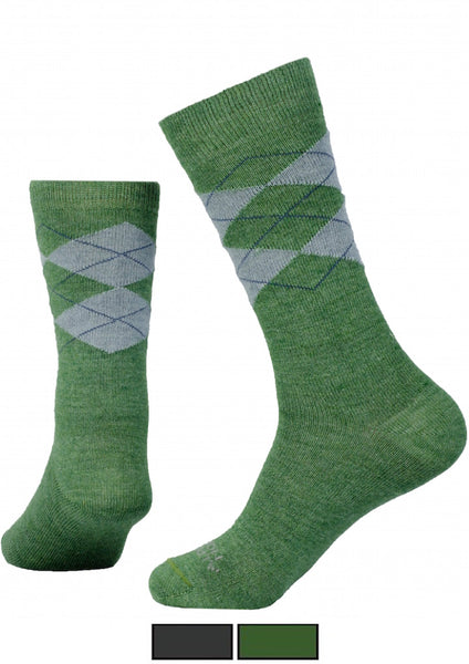 Mens green argyle Dress Socks