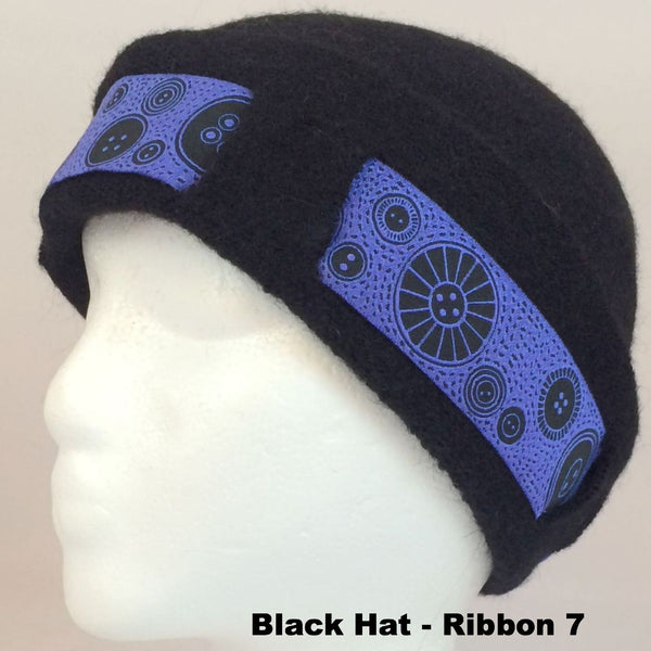 Kids / Youth Lined & Felted Alpaca Hat with Optional Ribbon