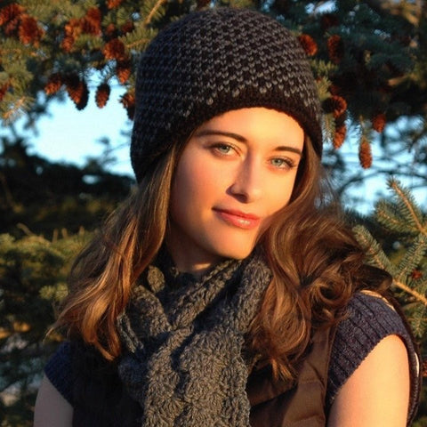 Winter Sport Lined Alpaca Beanie