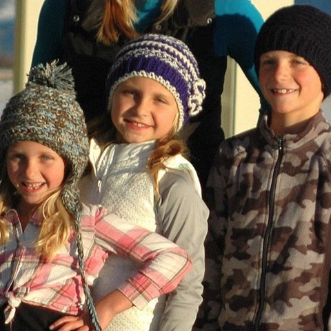 Youth & Kids Alpaca Hats - Hand Knit, Custom Designs - Alpacas of Montana