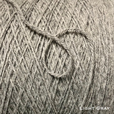light gray color representing color of alpaca yarn