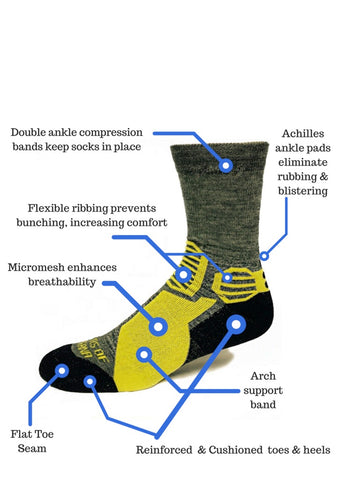 High Performance Trekking Crew Socks