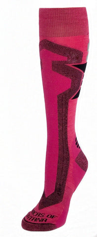 Ski & Snowboard Over-the-Calf Socks - Pink