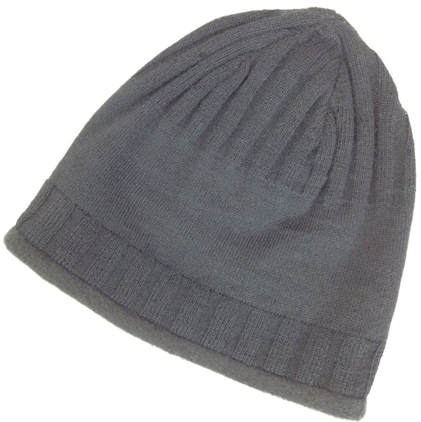 gray alpaca beanie hat wool for men