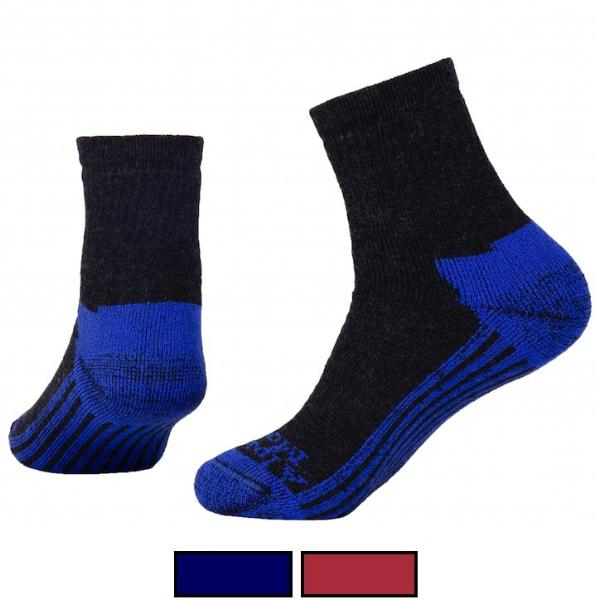 blue and black wool ankle socks for men