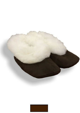 Alpaca Fur Slippers with Suede Soles