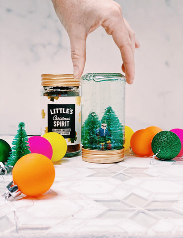 Little's upcycled snowglobes