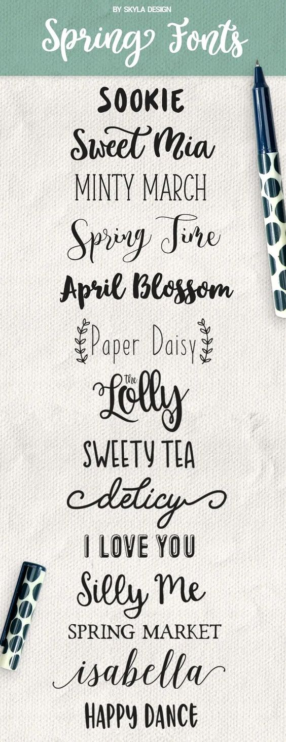 Spring fonts some free for commercial use