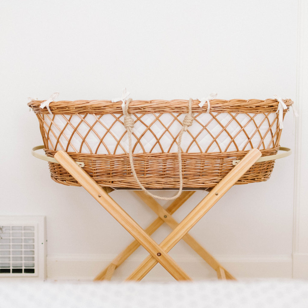 The Reed- Wicker Bassinet & Stand