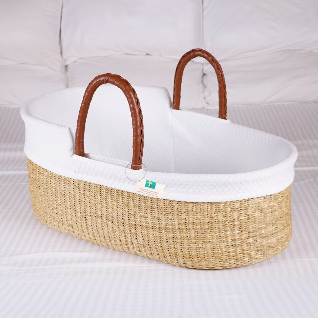 Natural Bundle for Bilia Bassinet (Stand +Liner + Sheet)  Modern