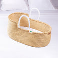 Signature Bilia Bassinet- Natural (White Leather)