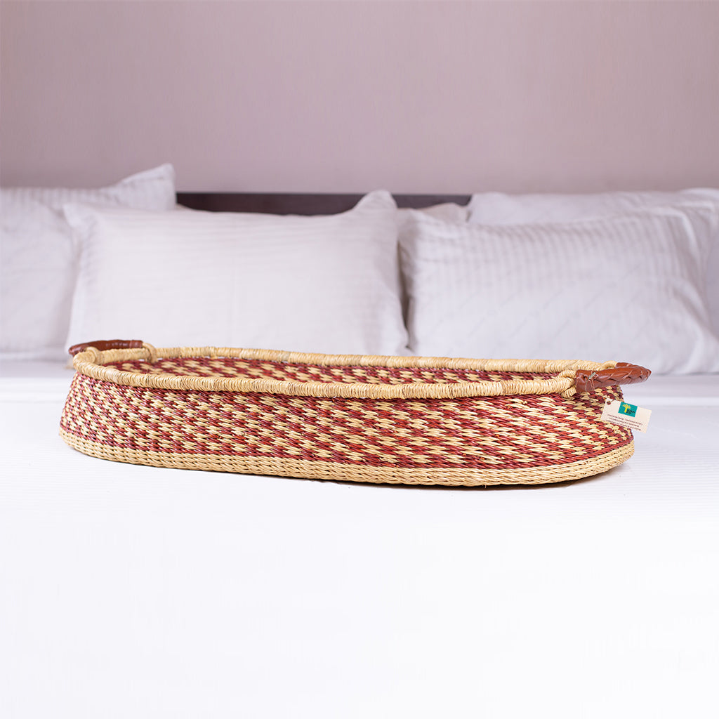 Handwoven Changing Basket: Golden Argyle