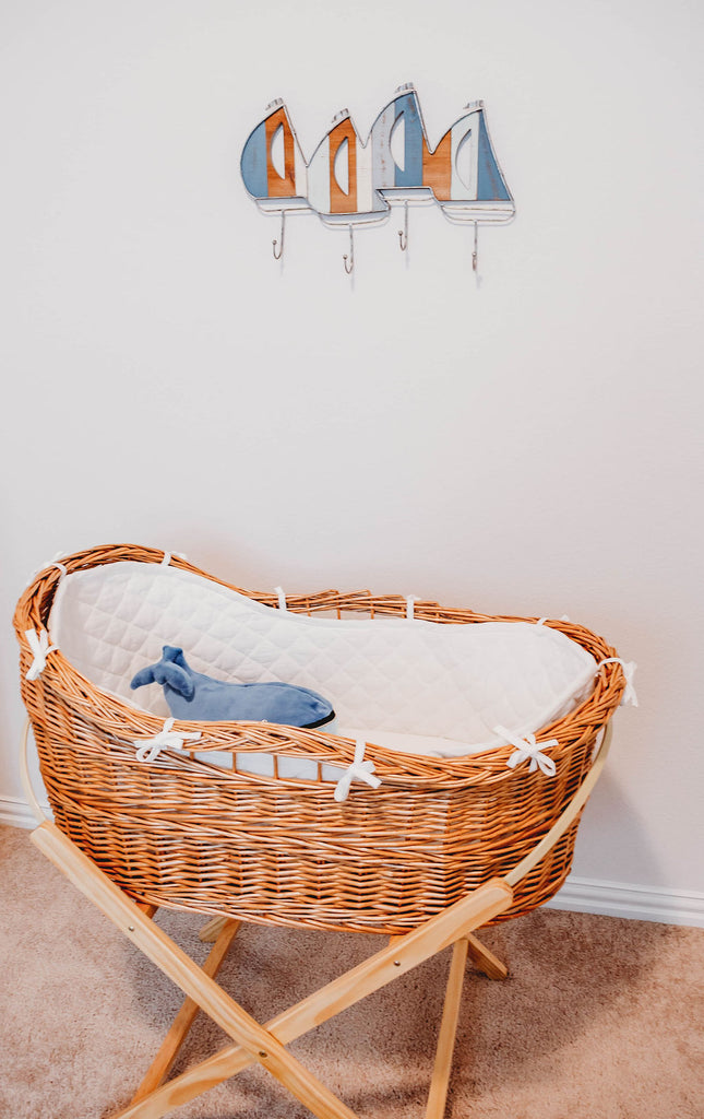 The Willow- Wicker Bassinet & Stand