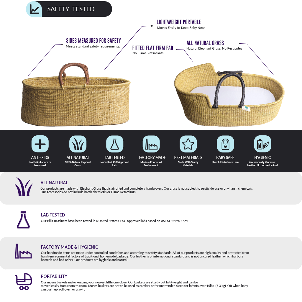 Signature Bilia Bassinet- Patterns