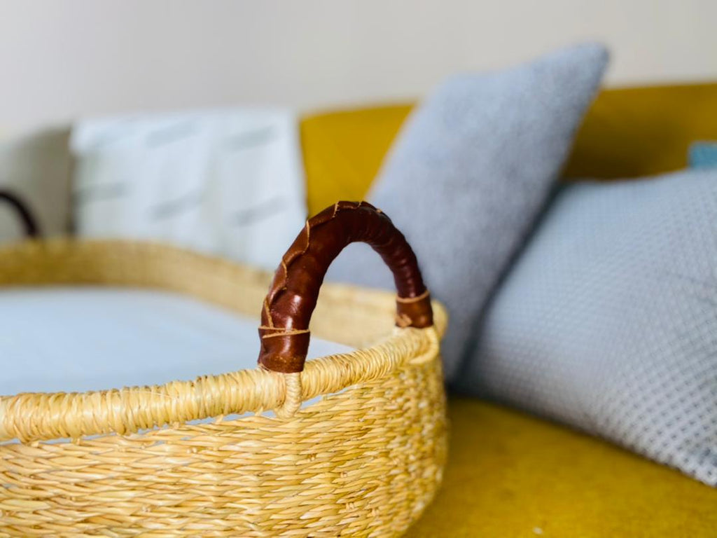 Handwoven Changing Basket: Chocolate
