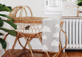 White Vintage Wicker Bassinet