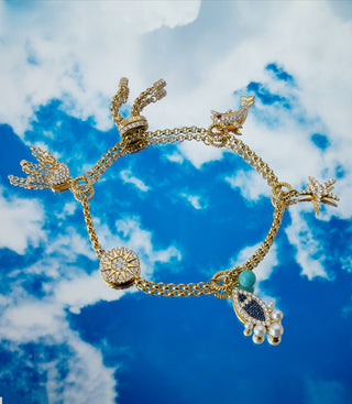 ELEMENTS OF THE SEA ADJUSTABLE BRACELET - YELLOW SILVER
