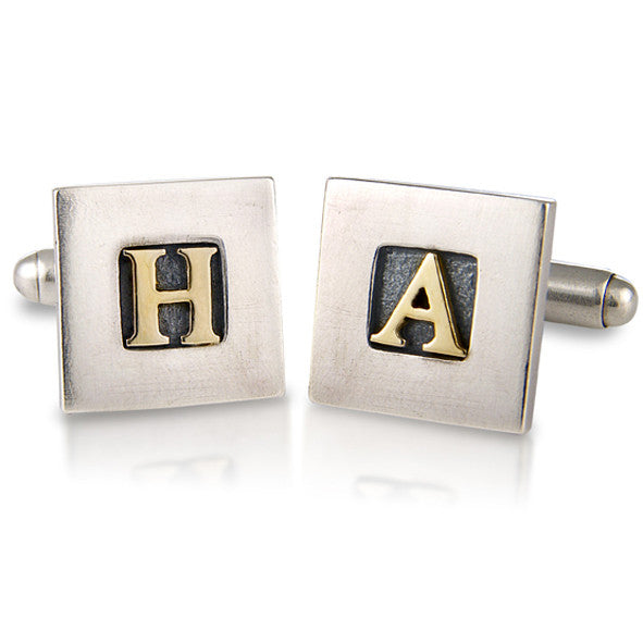 'Personalised Initial', cufflinks