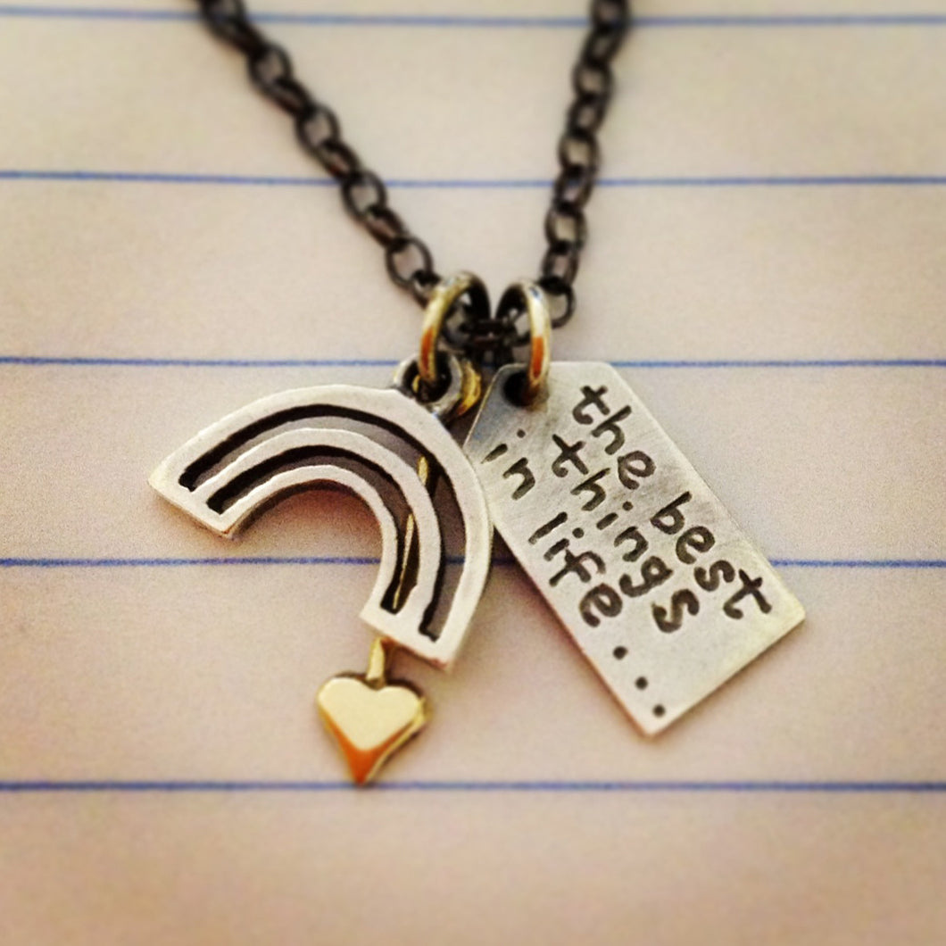 'The best things in life... are free' necklace