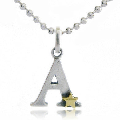 Personalised Initial Necklace with Gold Star