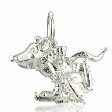 'Ice Skating Mouse', silver charm