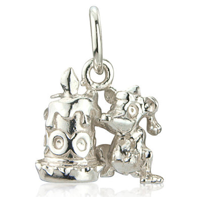 'Mouse and Candle', silver charm