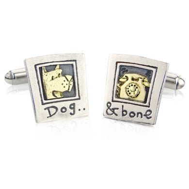 'Dog and Bone' cufflinks