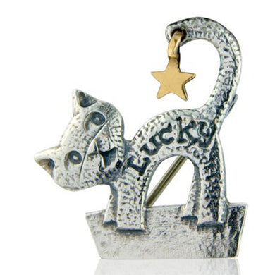 'Lucky Star Cat', brooch