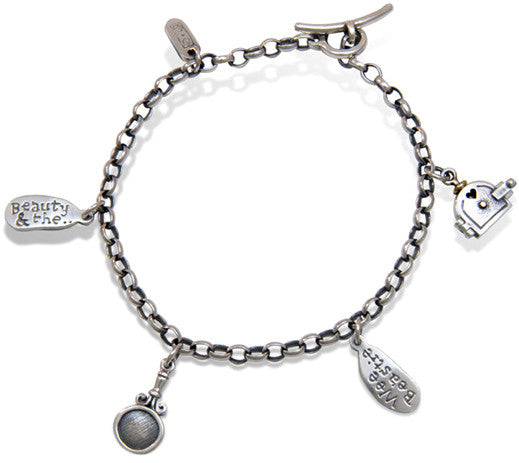 'Beauty and the Wee Beastie', charm bracelet
