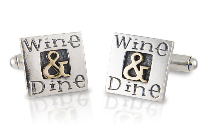 'Wine & Dine', cufflinks