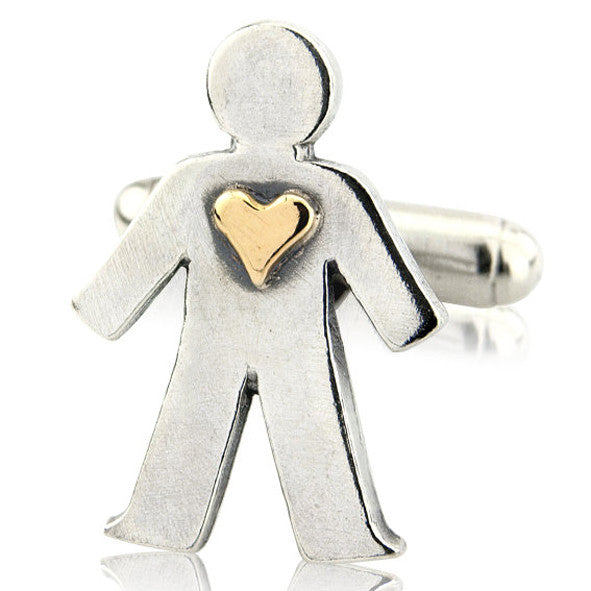 'Love' pick and mix, single cufflink