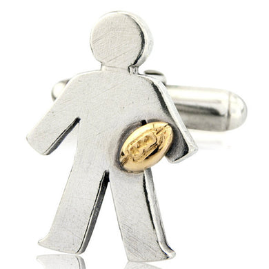 'Rugby' pick and mix, single cufflink