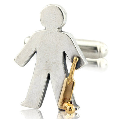 'Cricket' pick and mix, single cufflink