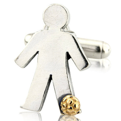 'Football' pick and mix, single cufflink
