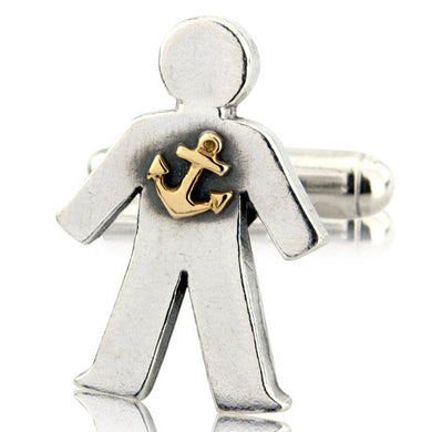 'Sailor' pick and mix, single cufflink