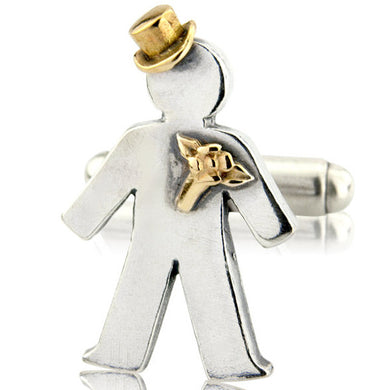 'Groom' pick and mix, single cufflink
